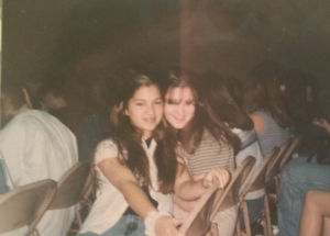 Me and Michelle at 8th grade graduation, circa 1997.